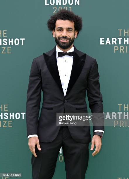 Mohamed Salah attends the Earthshot Prize 2021 at Alexandra Palace on October 17, 2021 in London, England.