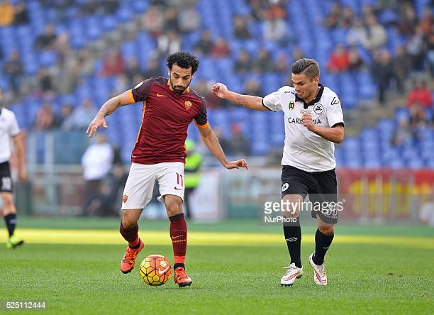 Mohamed Salah during the Italian Cup football match AS Roma vs AS Spezia at the Olympic Stadium in Rome on december 16 2015