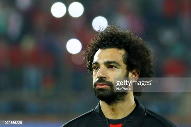 Mohamed Salah Egypt's during the Africa Cup of Nations qualifier match between Egypt and Swaziland on October 12 2018 in AlSalam stadium Cairo Egypt