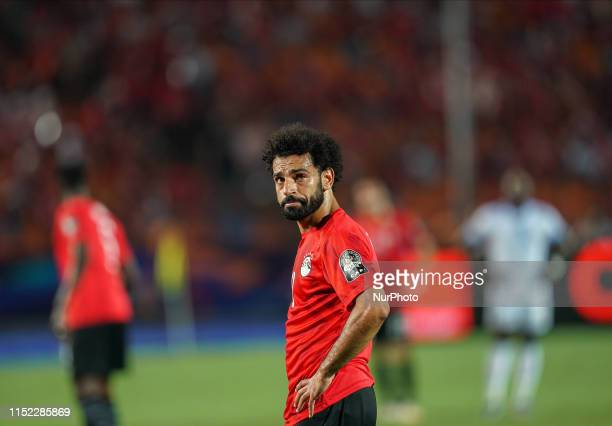 Mohamed Salah Mahrous Ghaly of Egypt during the 2019 African Cup of Nations match between Egypt and DR Congo at the Cairo International Stadium in...