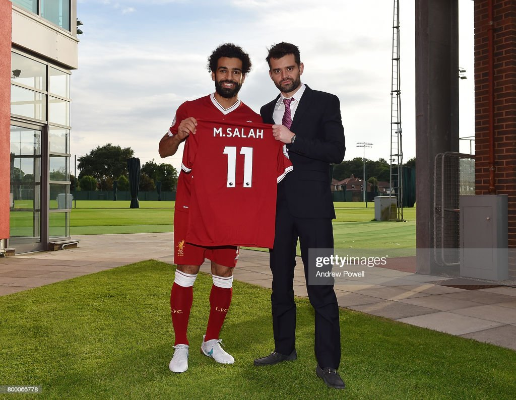 Mohamed Salah new signing for Liverpool at Melwood Training Ground on June 22, 2017 in Liverpool, England.