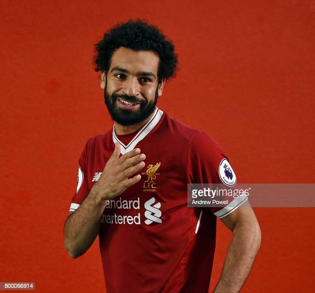 Mohamed Salah new signing for Liverpool at Melwood Training Ground on June 22 2017 in Liverpool England