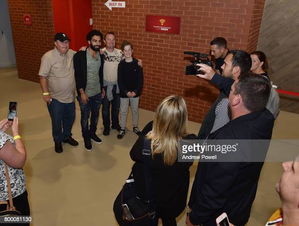Mohamed Salah new signing for Liverpool visits Anfield on June 23 2017 in Liverpool England