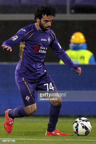 Mohamed Salah of ACF Fiorentina in action during the Serie A match between ACF Fiorentina and UC Sampdoria at Stadio Artemio Franchi on April 4 2015...