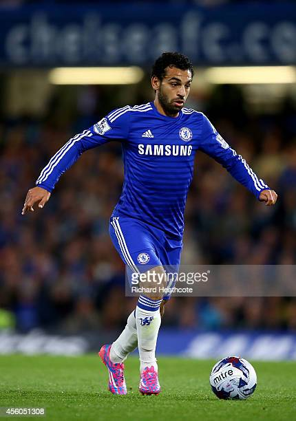 Mohamed Salah of Chelsea during the Captial One Cup Third Round match between Chelsea and Bolton Wanderers at Stamford Bridge on September 24 2014 in...
