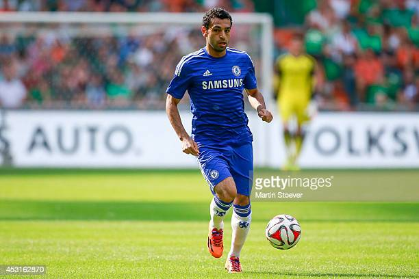 Mohamed Salah of Chelsea during the pre season friendly match between SV Werder Bremen and FC Chelsea at Weserstadion on August 3 2014 in Bremen...
