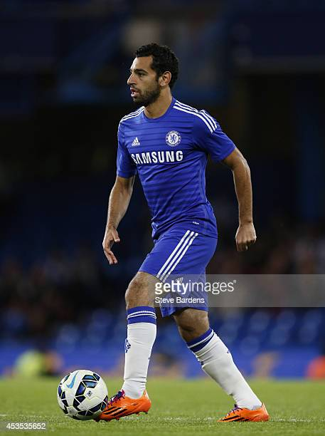 Mohamed Salah of Chelsea in action during the preseason friendly match between Chelsea and Real Sociedad at Stamford Bridge on August 12 2014 in...