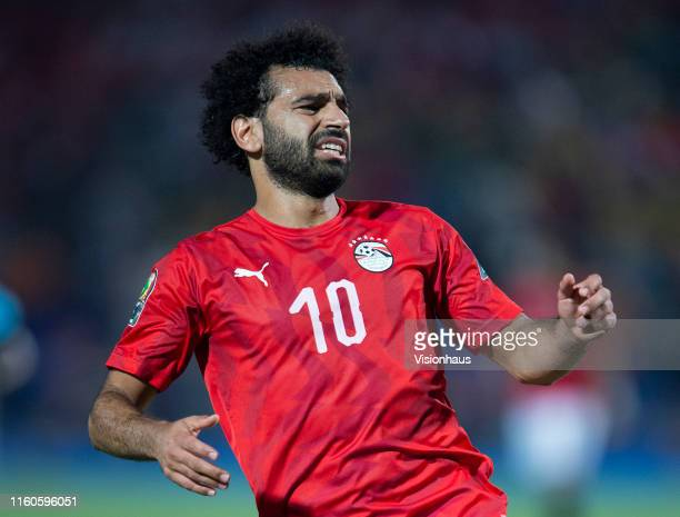 Mohamed Salah of Egypt during the 2019 Africa Cup of Nations Round of 16 match between Egypt and South Africa at Cairo International Stadium on July...