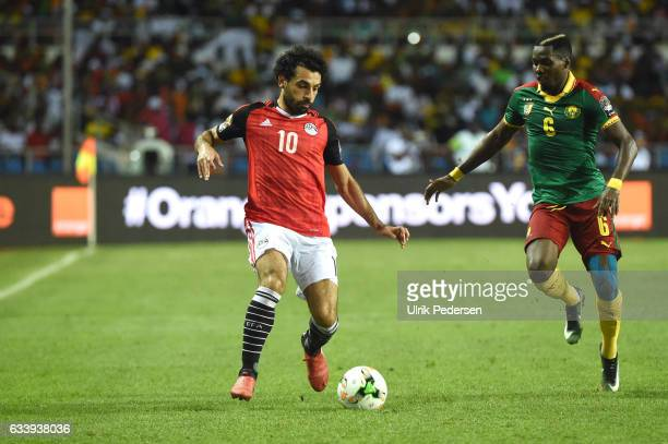 Mohamed Salah of Egypt during the African Nations Cup Final match between Cameroon and Egypt at Stade de L'Amitie on February 5 2017 in Libreville...