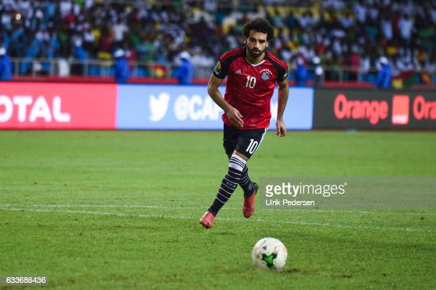 Mohamed Salah of Egypt during the African Nations Cup Semi Final match between Burkina Faso and Egypt at Stade de L'Amitie on February 1 2017 in...