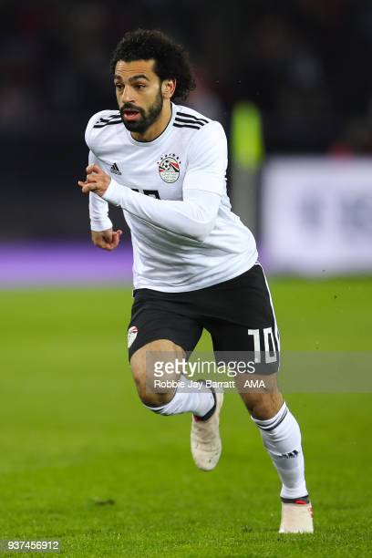 Mohamed Salah of Egypt during the International Friendly match between Portugal and Egypt at Stadion Letzigrund on March 23 2018 in Zurich Switzerland