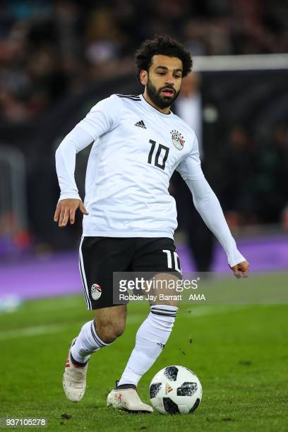 Mohamed Salah of Egypt during the International Friendly match between Egypt and Portugal at Stadion Letzigrund on March 23 2018 in Zurich Switzerland