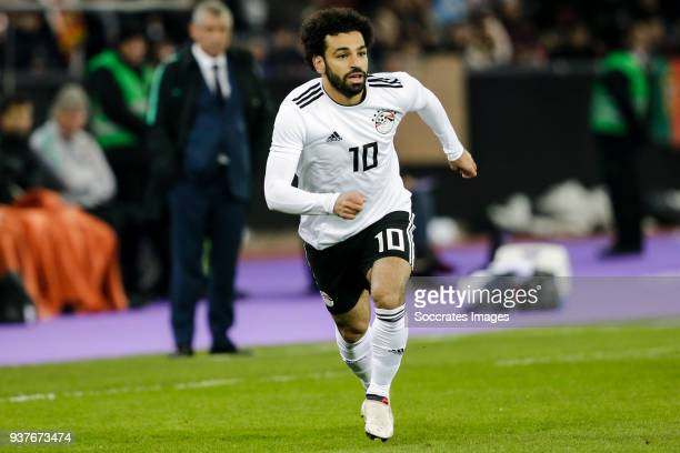 Mohamed Salah of Egypt during the International Friendly match between Egypt v Portugal at the Letzigrund Stadium on March 23 2018 in Zurich...