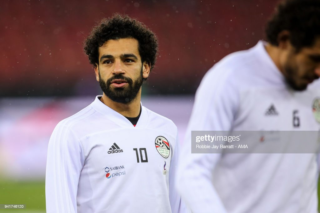 Mohamed Salah of Egypt during the International Friendly match between Egypt and Greece at Stadion Letzigrund at Letzigrund on March 27, 2018 in Zurich, Switzerland.