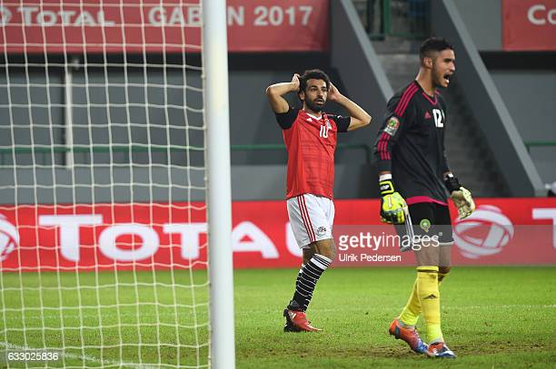 Mohamed Salah of Egypt during the Quarter Final African Nations Cup match between Morocco and Egypt on January 29 2017 in Port Gentil Gabon