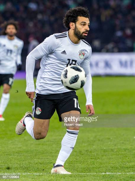 Mohamed Salah of Egypt in action during the International Friendly between Portugal and Egypt at the Letzigrund Stadium on March 23 2018 in Zurich...