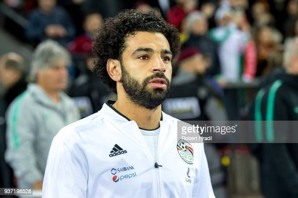 Mohamed Salah of Egypt looks on during the International Friendly between Portugal and Egypt at the Letzigrund Stadium on March 23 2018 in Zurich...