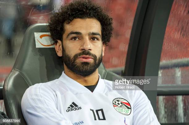 Mohamed Salah of Egypt looks on during the International Friendly between Egypt and Greece at the Letzigrund Stadium on March 27 2018 in Zurich...