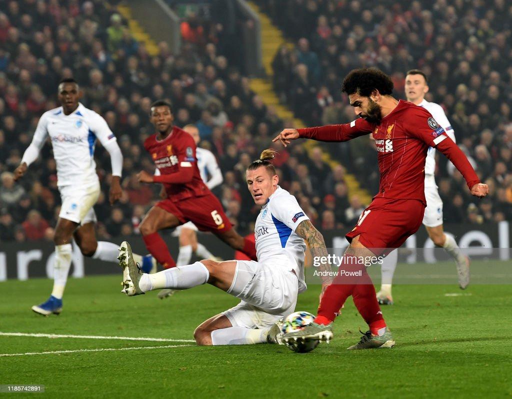 Liverpool FC v KRC Genk: Group E - UEFA Champions League : ニュース写真