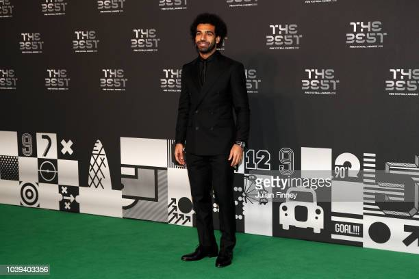Mohamed Salah of Liverpool arrives on the Green Carpet ahead of The Best FIFA Football Awards at Royal Festival Hall on September 24 2018 in London...