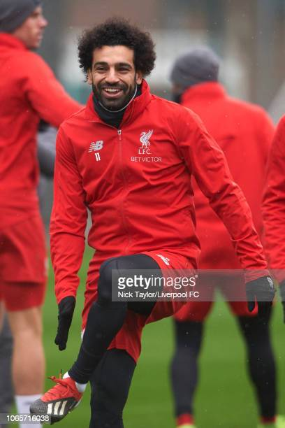 Mohamed Salah of Liverpool at Melwood Training Ground on November 27 2018 in Liverpool England