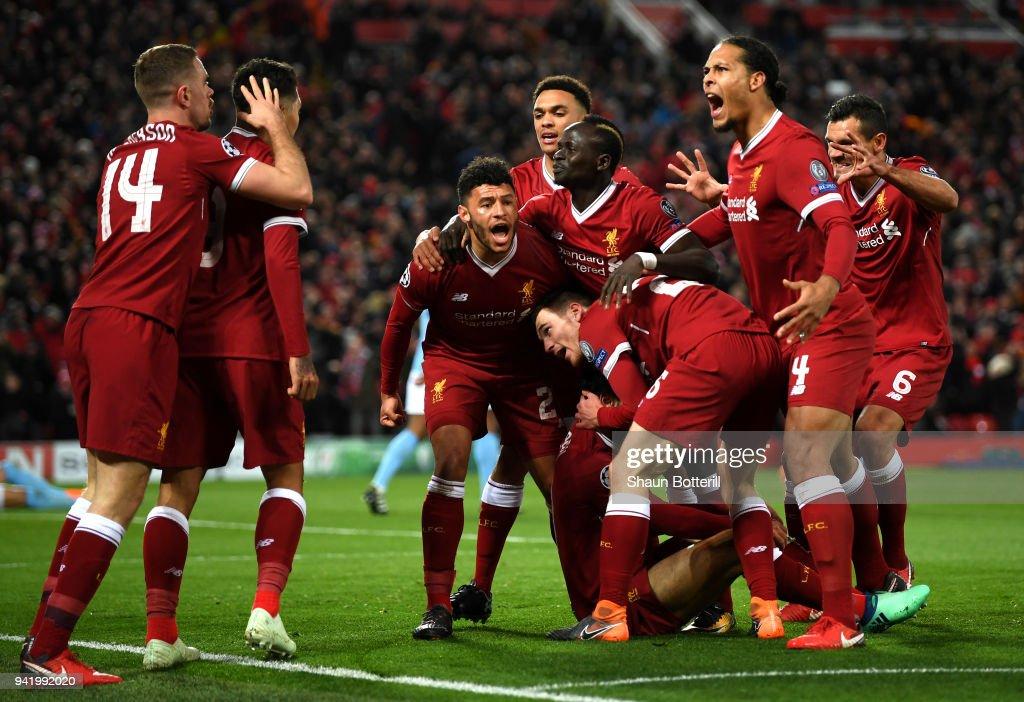 Liverpool v Manchester City - UEFA Champions League Quarter Final Leg One : News Photo