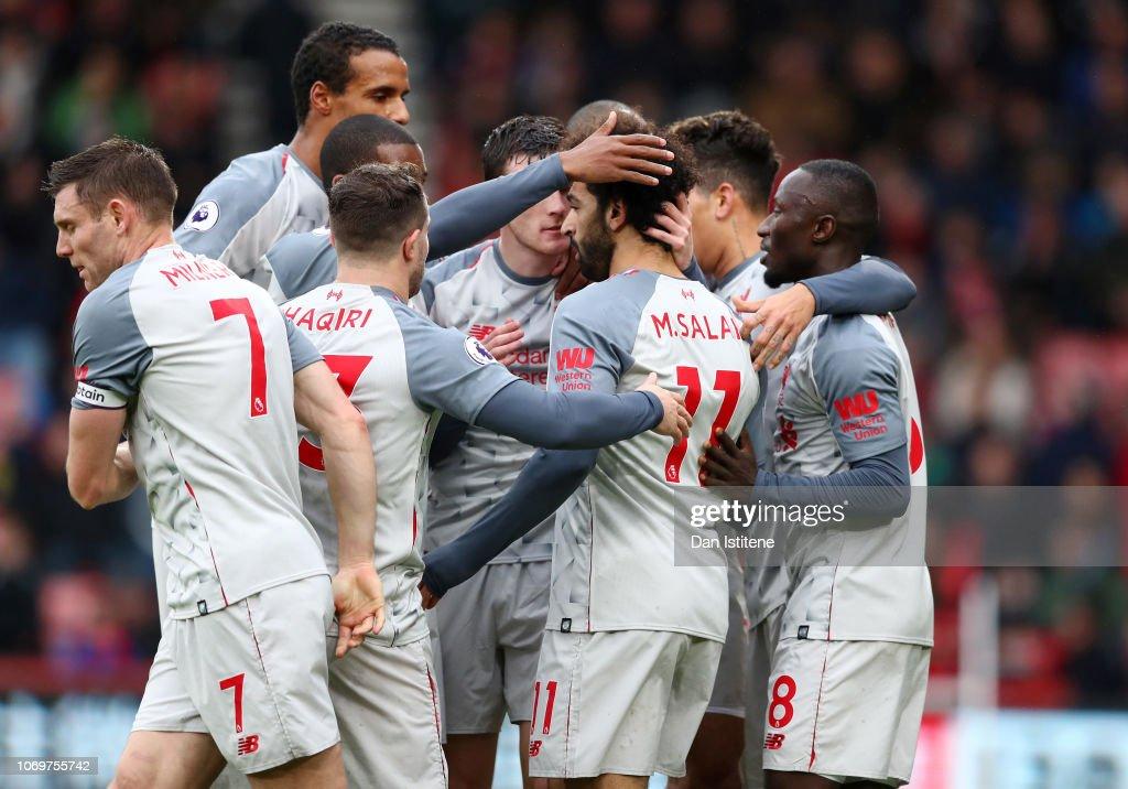 AFC Bournemouth v Liverpool FC - Premier League : Nachrichtenfoto