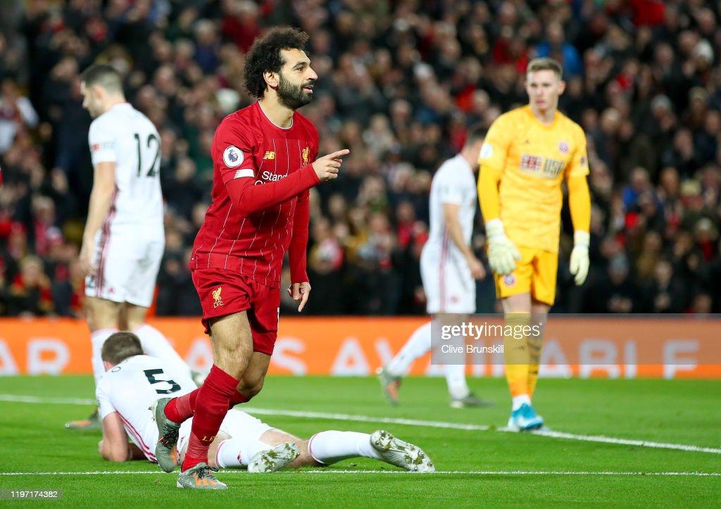 Liverpool FC v Sheffield United - Premier League : Fotografía de noticias