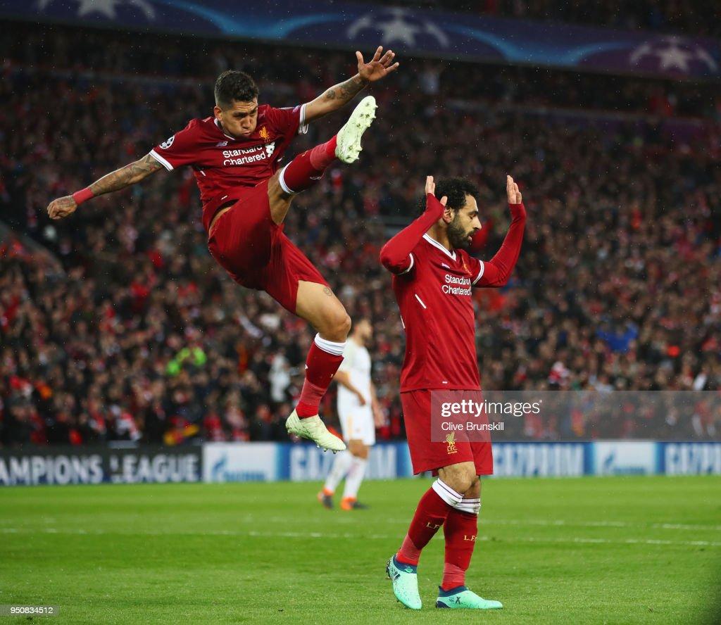 Liverpool v A.S. Roma - UEFA Champions League Semi Final Leg One : ニュース写真