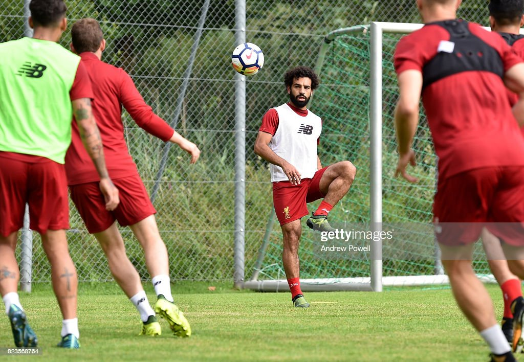 Mohamed Salah of Liverpool during a training session at Rottach-Egern on July 27, 2017 in Munich, Germany.