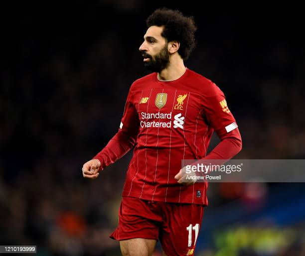 Mohamed Salah of Liverpool during the FA Cup Fifth Round match between Chelsea FC and Liverpool FC at Stamford Bridge on March 03, 2020 in London,...