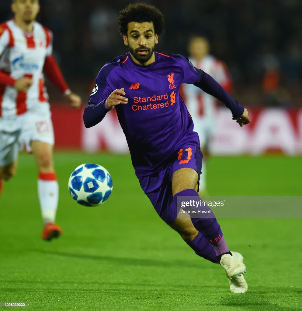 Debrecen Vs Liverpool Uefa Champions League Match: Mohamed Salah Of Liverpool During The Group C Match Of The