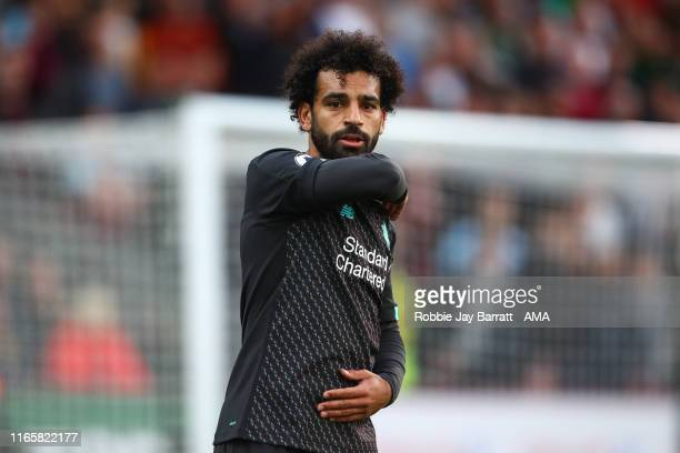 Mohamed Salah of Liverpool during the Premier League match between Burnley FC and Liverpool FC at Turf Moor on August 31 2019 in Burnley United...