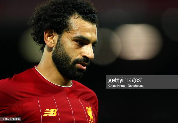 Mohamed Salah of Liverpool during the Premier League match between Liverpool FC and Norwich City at Anfield on August 09 2019 in Liverpool United...