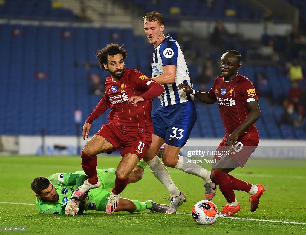 Brighton & Hove Albion v Liverpool FC - Premier League : Nachrichtenfoto