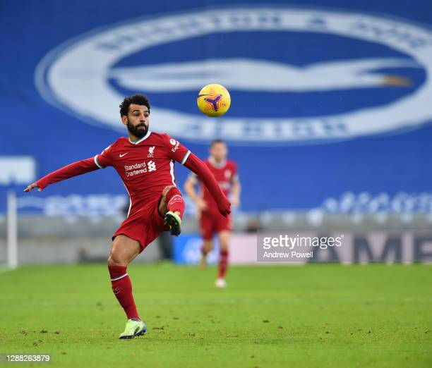 Mohamed Salah of Liverpool during the Premier League match between Brighton & Hove Albion and Liverpool at American Express Community Stadium on...