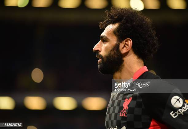 Mohamed Salah of Liverpool during the Premier League match between Burnley and Liverpool at Turf Moor on May 19, 2021 in Burnley, England.