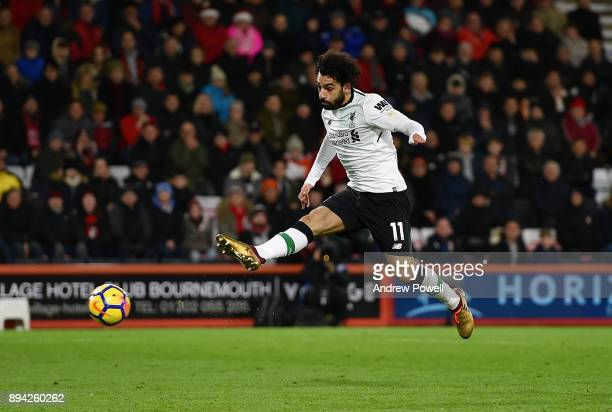 Mohamed Salah of Liverpool during the Premier League match between AFC Bournemouth and Liverpool at Vitality Stadium on December 17 2017 in...