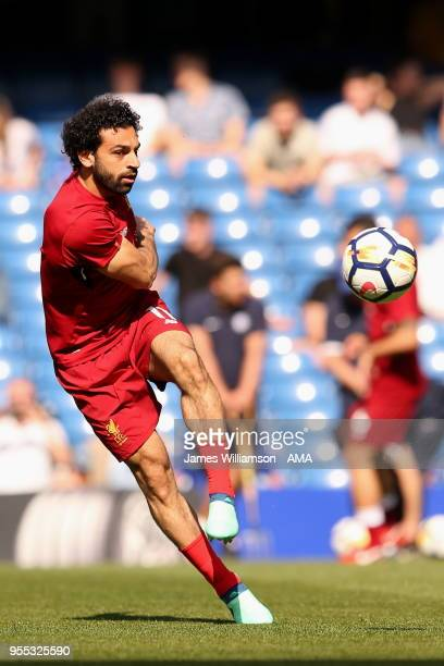 Mohamed Salah of Liverpool during the Premier League match between Chelsea and Liverpool at Stamford Bridge on May 6 2018 in London England