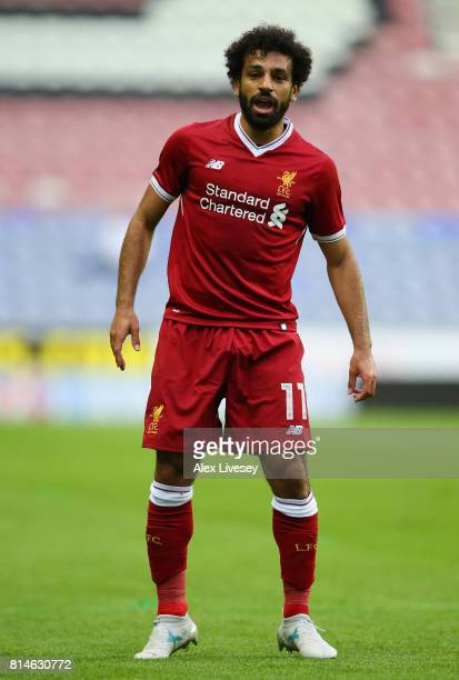 Mohamed Salah of Liverpool during the preseason friendly match between Wigan Athletic and Liverpool at DW Stadium on July 14 2017 in Wigan England