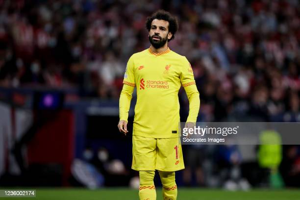 Mohamed Salah of Liverpool FC during the UEFA Champions League match between Atletico Madrid v Liverpool at the Estadio Wanda Metropolitano on...