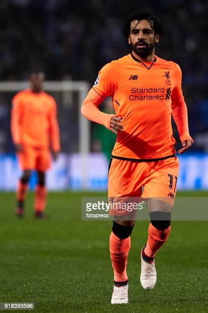 Mohamed Salah of Liverpool FC looks on during the UEFA Champions League Round of 16 First Leg match between FC Porto and Liverpool FC at Estadio do...
