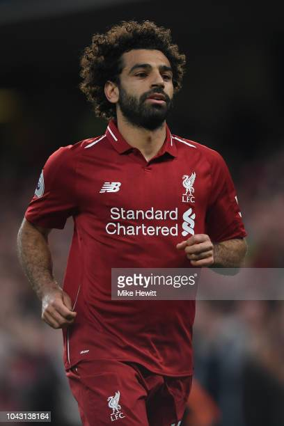 Mohamed Salah of Liverpool in action during the Premier League match between Chelsea FC and Liverpool FC at Stamford Bridge on September 29 2018 in...