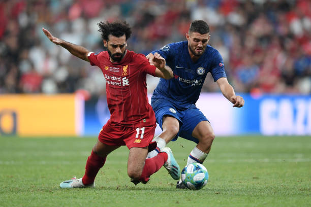 SUPER COUPE EUROPE UEFA 2019 Mohamed-salah-of-liverpool-is-challenged-by-mateo-kovacic-of-chelsea-picture-id1168055238?k=6&m=1168055238&s=612x612&w=0&h=Ay0Q8CuPOkAc5MDEdGDF4kdLfb_FML8_3uZjCRQWFfM=