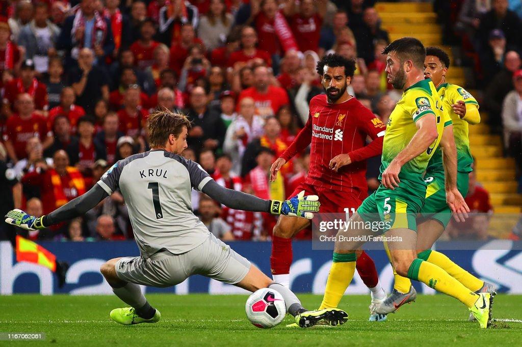 Liverpool FC v Norwich City - Premier League : ニュース写真