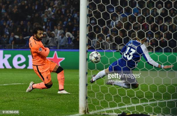 Mohamed Salah of Liverpool scores the second goal during the UEFA Champions League Round of 16 First Leg match between FC Porto and Liverpool at...