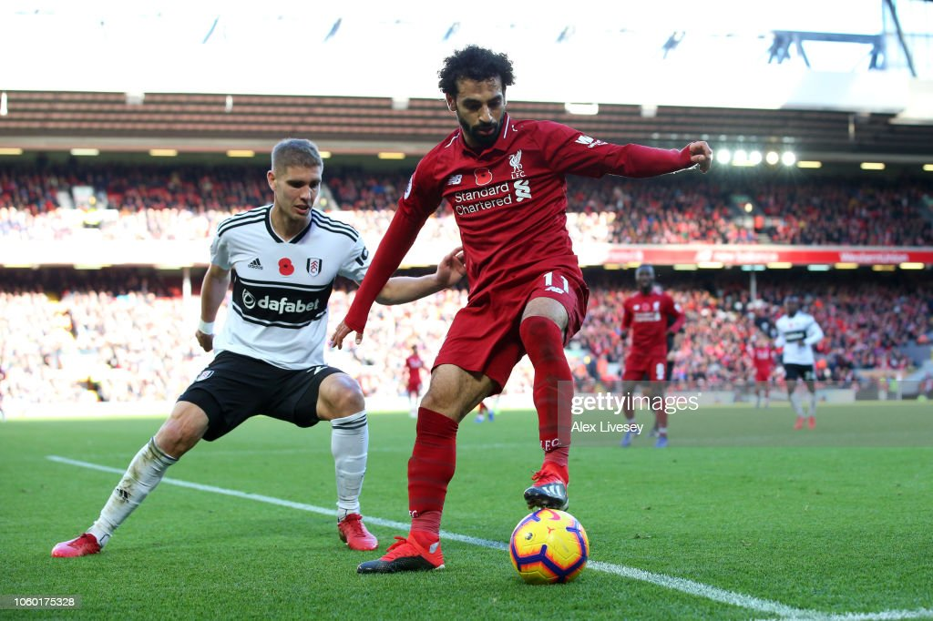 Liverpool FC v Fulham FC - Premier League : News Photo