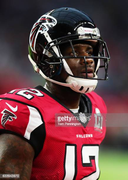 Mohamed Sanu of the Atlanta Falcons warms up prior to Super Bowl 51 at NRG Stadium on February 5 2017 in Houston Texas