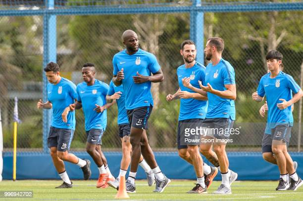 Mohamed Sissoko during his training session on July 12 2018 in Hong Kong