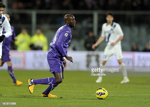 Mohamed Sissoko of ACF Fiorentina in action during the Serie A match between ACF Fiorentina and FC Internazionale Milano at Stadio Artemio Franchi on...